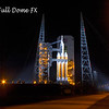 Orion EFT-1/Delta IV Heavy sits waiting for launch just after midnight on December 4th, 2014.