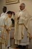 Fr. Ornelas blesses Dn. Daniele before he reads the Gospel