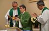 Fr. Carlos Alberto da Costa Silva, Fr. Mariano Weizenmann, and Fr. Ronilton Souza de Araújo