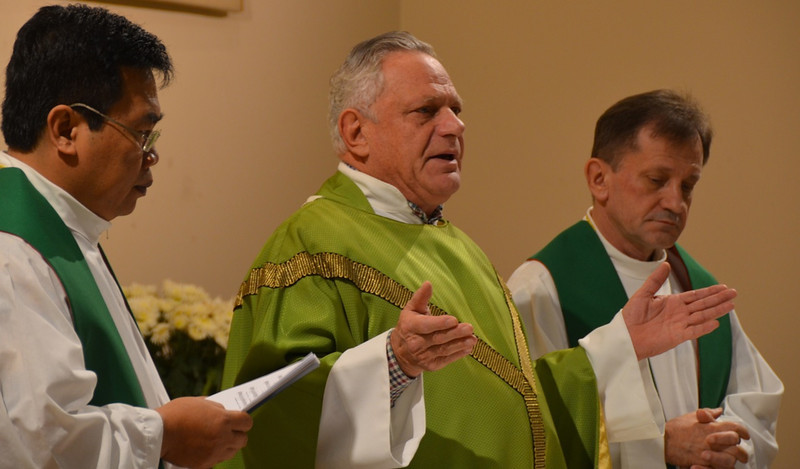 Fr. Madya, Fr. Rino and Fr. Francis were the main celebrants at Friday's Mass