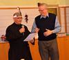 Fr. José Carlos gets a little help with the English translation from Fr. John van den Hengel