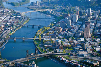 Over Portland, Oregon