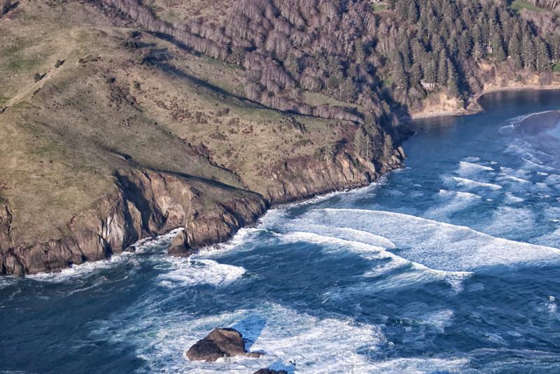 Close up of landscape on Oregon coast