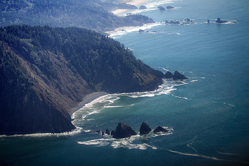 Looking South from over the coast of NW Oregon