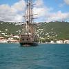 Bounty at anchor, stern