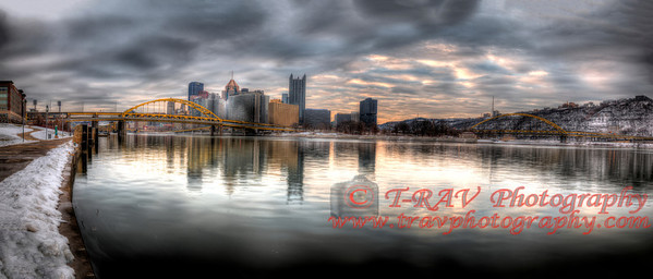 """ The Pittsburgh Point ""    The Original size for this is 12""h x 36"" L. Any other size will need to be cropped and may lose part of photo. I can however make this almost any size if you contact me at travis@travphotography.com. Thank You"