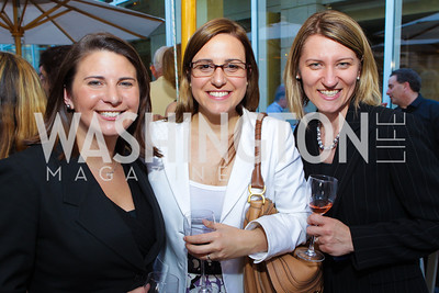 Jennifer Walsh, Tatiana Fittipaldi, Cristina Paris. Photo by Alfredo Flores. Park Hyatt Masters of Food and Wine Reception. Blue Duck Tavern Terrace. June 2, 2011