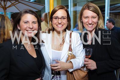 Jennifer Walsh, Tatiana Fittipaldi, Cristina Paris. Photo by Alfredo Flores. Park Hyatt Masters of Food and Wine Reception. Blue Duck Tavern Terrace. June 2, 2011