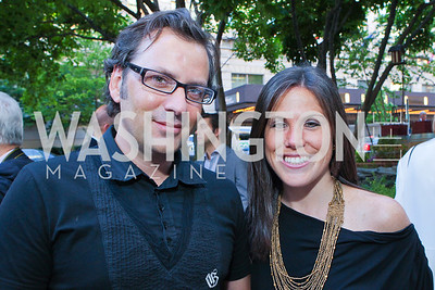 Michael Clements, Renee Sharrow. Photo by Alfredo Flores. Park Hyatt Masters of Food and Wine Reception. Blue Duck Tavern Terrace. June 2, 2011