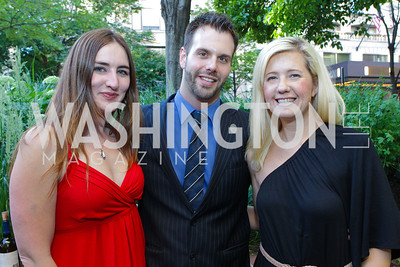 Cara Early, Andrew Stover, Catherine Coughlin. Photo by Alfredo Flores. Park Hyatt Masters of Food and Wine Reception. Blue Duck Tavern Terrace. June 2, 2011