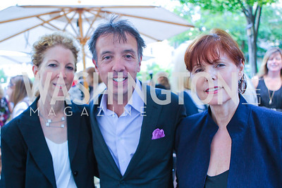 Marilyn Green, Peter Baca, Genevieve Marchand. Photo by Alfredo Flores. Park Hyatt Masters of Food and Wine Reception. Blue Duck Tavern Terrace. June 2, 2011