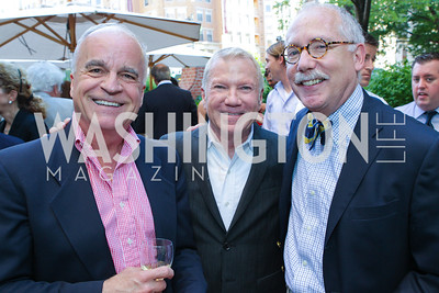 Wilson Craig, Walter Brindell, Jack Cahill. Photo by Alfredo Flores. Park Hyatt Masters of Food and Wine Reception. Blue Duck Tavern Terrace. June 2, 2011