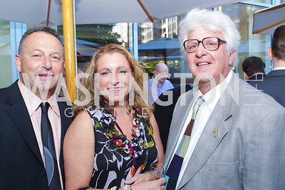 Roy Cargiulo, Carole Cargiulo, Jeff Kolker. Photo by Alfredo Flores. Park Hyatt Masters of Food and Wine Reception. Blue Duck Tavern Terrace. June 2, 2011