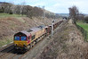 66038 passes Edale with the late-running 6L56 0905 Toton Yard to New Mills South Junction engineering train (11/04/2010)