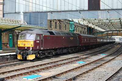 47245 is pictured on the rear of 1Z47 at Carlisle. The 'no-heat' machine later worked the return 1Z48 1538 to Erdington via the Tyne Valley and ECML (08/06/2010)