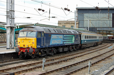 Another view of 47501 on the rear of 1Z76 at Carlisle. This was the last we'd see of this particular loco today as it was due an exam, and was removed at its home depot whilst the stock was being serviced at Kingmoor (12/06/2010)