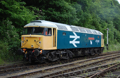 47640 is seen here backing onto the stock for the 1430 departure from Shackerstone. The loco still only has full 'largo-logo' livery on one side (13/06/2010)