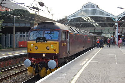47760 pauses at Preston with Statesman's 1Z63 0604 Swindon-Fort William charter (08/10/2010)