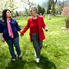 "JANEDOE1.jpg Michelle Fowler. at left,  and Marlene Ashman walk hand-in-hand away from the grave of Dorothy Gay Howard in the Columbia Cemetary on Thursday afternoon. Ashman, Howard's sister and Fowler her grand-neice, came to the cemetery for the first time since their relative was identified as the famous Jane Doe who police believed was murdered in 1954.<br /> For a video interview with Fowler and Ashman go to  <a href=""http://www.dailycamera.com"">http://www.dailycamera.com</a><br /> Photo by Paul Aiken / The Camera"