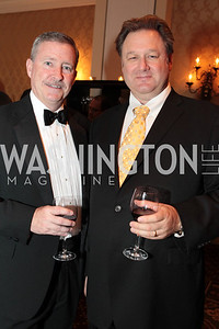 Tom Sweeney, Wayne Best. Photo by Alfredo Flores. PenFed Foundation's seventh annual 7th Annual Night of Heroes Gala. Ritz-Carlton. May 19, 2011