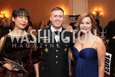 Adrianne Dicker Kadzinski, Phillip Romanell, Sue Cushing. Photo by Alfredo Flores. PenFed Foundation's seventh annual 7th Annual Night of Heroes Gala. Ritz-Carlton. May 19, 2011