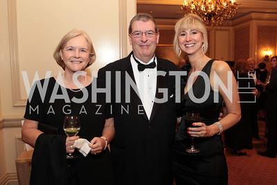 Lisa Brenneman, Daniel Brenneman, Lisa Gillispie. Photo by Alfredo Flores. PenFed Foundation's seventh annual 7th Annual Night of Heroes Gala. Ritz-Carlton. May 19, 2011