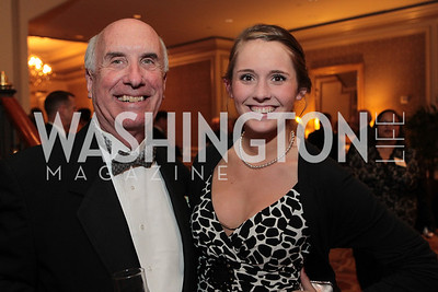 Richard Zweber, Wren Satterley. Photo by Alfredo Flores. PenFed Foundation's seventh annual 7th Annual Night of Heroes Gala. Ritz-Carlton. May 19, 2011