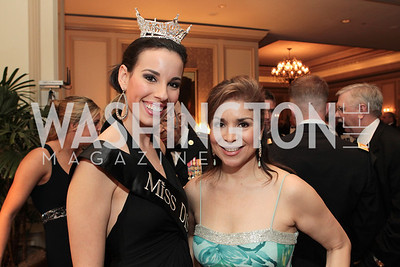 Miss District of Columbia Stephanie Williams, Terri Galvez. Photo by Alfredo Flores. PenFed Foundation's seventh annual 7th Annual Night of Heroes Gala. Ritz-Carlton. May 19, 2011