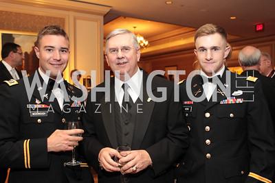 Bob McDonough, Randy Brooks, Cameron Kerr. Photo by Alfredo Flores. PenFed Foundation's seventh annual 7th Annual Night of Heroes Gala. Ritz-Carlton. May 19, 2011