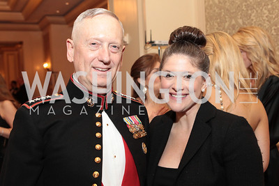 James Mattis, Kate Kohler. Photo by Alfredo Flores. PenFed Foundation's seventh annual 7th Annual Night of Heroes Gala. Ritz-Carlton. May 19, 2011