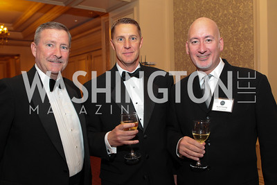 Tom Sweeney, Mike Bordner, Scott Young. Photo by Alfredo Flores. PenFed Foundation's seventh annual 7th Annual Night of Heroes Gala. Ritz-Carlton. May 19, 2011