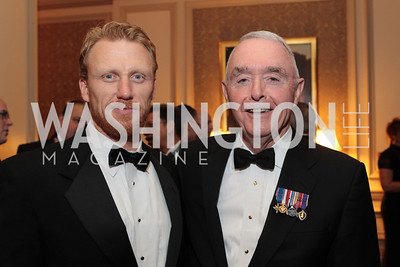 Kevin McKidd, Barry McCaffrey. Photo by Alfredo Flores. PenFed Foundation's seventh annual 7th Annual Night of Heroes Gala. Ritz-Carlton. May 19, 2011