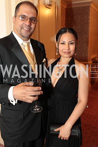 Duval Diaz, Mercedes Diaz. Photo by Alfredo Flores. PenFed Foundation's seventh annual 7th Annual Night of Heroes Gala. Ritz-Carlton. May 19, 2011