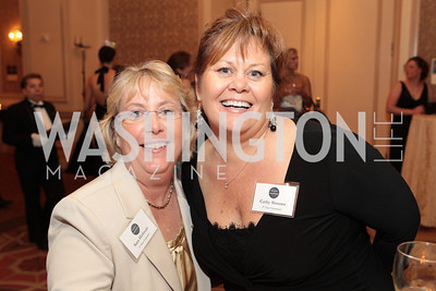 Sarah Holman, Cathy Simons. Photo by Alfredo Flores. PenFed Foundation's seventh annual 7th Annual Night of Heroes Gala. Ritz-Carlton. May 19, 2011