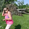 John P. Cleary | The Herald Bulletin <br /> Damaged and downed trees in Falls Park.