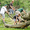 Don Knight | The Herald Bulletin<br /> Recovery efforts continue in Pendleton on Wednesday after the town was hit by a tornado on Memorial Day.