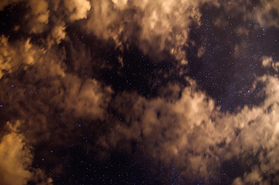 No meteors, just a pretty photo of cloud cover and the Heavens.