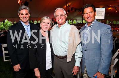 Mark Lowham, Leah and Jack Gansler, Frank Ruzzo. Photo by Tony Powell. Peterson Lobster Dinner. May 7, 2011