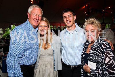 Milt Peterson, Jillian Fellows, Ryan Dill, Carolyn Peterson. Photo by Tony Powell. Peterson Lobster Dinner. May 7, 2011
