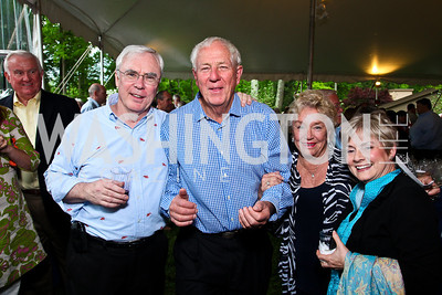 John Fay, Milt and Carolyn Peterson, Carole Fay. Photo by Tony Powell. Peterson Lobster Dinner. May 7, 2011