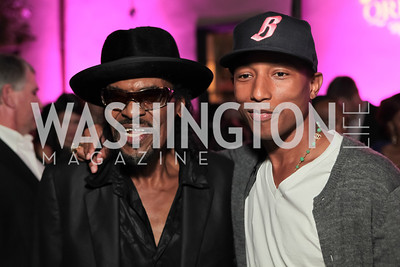 Pharrell Williams, Chuck Brown. Pharrell WIlliams introduces his new liqueur Qream. September 30, 2011. Photo by Alfredo Flores