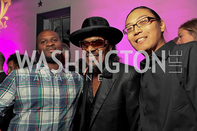 No King Collective's Brandon Hill, Chuck Brown, ReadysetDC's Peter Chang. Pharrell WIlliams introduces his new liqueur Qream. September 30, 2011. Photo by Alfredo Flores