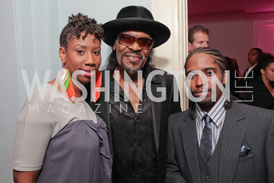 Charlee Covington, Chuck Brown, Jerry Miles. Pharrell WIlliams introduces his new liqueur Qream. September 30, 2011