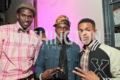 Anwan Glover, Pusha T, Xavier Jones. Pharrell WIlliams introduces his new liqueur Qream. September 30, 2011