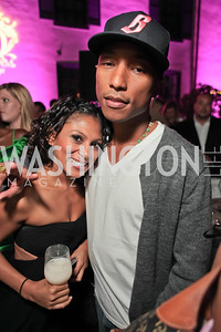 Pharrell WIlliams introduces his new liqueur Qream. September 30, 2011. Photo by Alfredo Flores