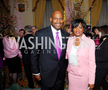 Warren Thompson,Johnine Barnes,Pink Tie Party,March 23,2011,Kyle Samperton
