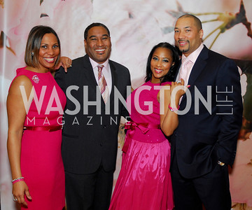 Monique Anderson Walker,Dwayne Davis,Montina Anderson,Montez Anderson,Pink Tie Party,March 23,2011,Kyle Samperton