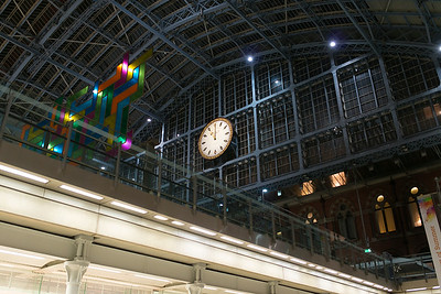 St. Pancras International train station in London.