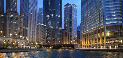 The Chicago River at Dusk.