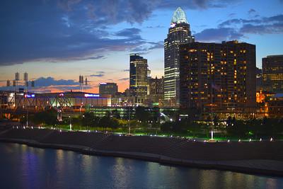 Cincinnati at dusk